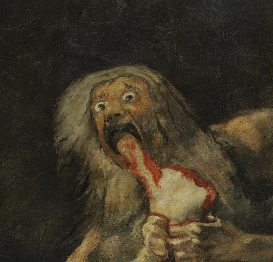 "saturn devouring his son essay Francisco goya's ""saturn devouring his son"" is one of the darkest paintings of its time hidden as part of his personal collection, the painting was a piece of."